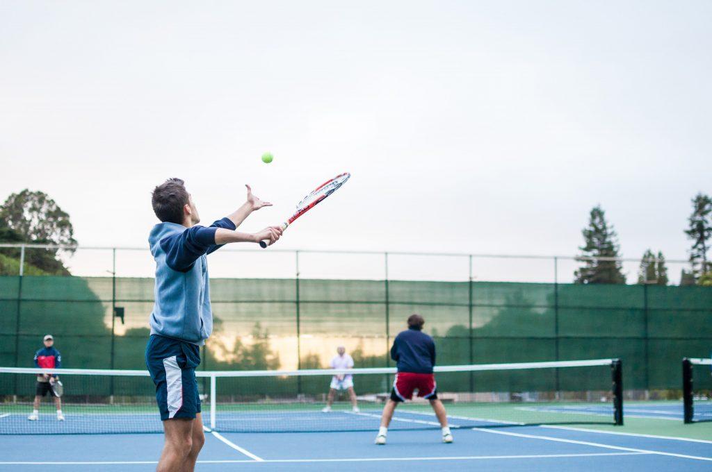 Bedrukte tennisdoeken
